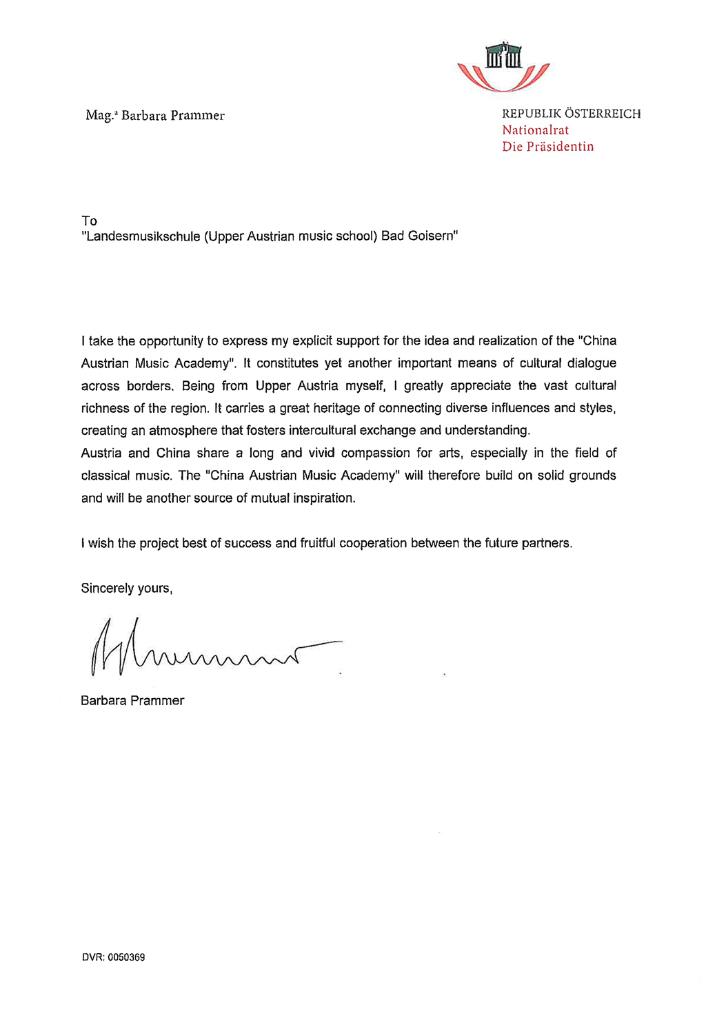 recommendation letter for counselor