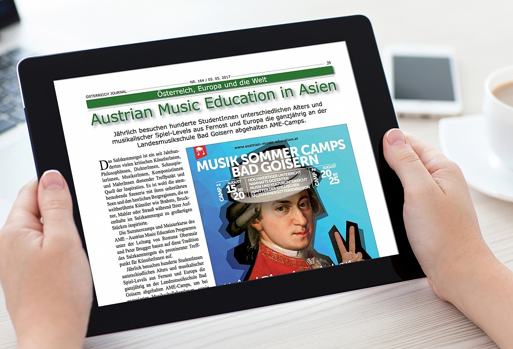 "AME in the ""Österreich Journal""-Magazine"